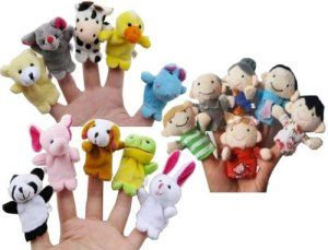 Educational Toys For Toddlers: Story Time Finger Puppets - 10 pcs Velvet Animal and 6 pcs Soft Plush Family Puppets With Bonus http://bit.ly/1t80Zud