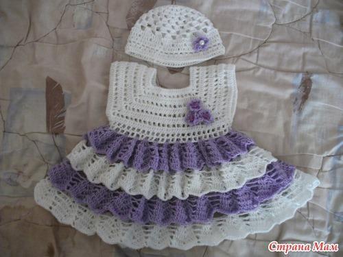 Платья вязать крючком для малыша