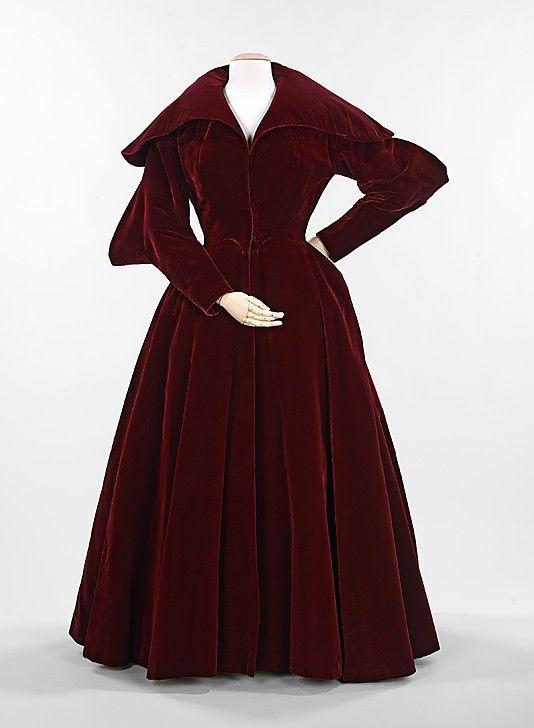 Evening Coat 1949, American, Made of silk