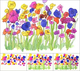 Wet-on-wet watercolor flowers: Flowers Gardens, Paintings Flowers, Wetonwet, For Kids, Art Ideas, Watercolor Flowers, Art Projects, Wet On Wet Watercolor, 2Nd Grade