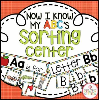 Have your learners sort the initial sound pictures, capital and lowercase letters on a pocket or add magnet tape for a magnet center. Use a variety of letter combinations or one at a time depending on the needs of your students.