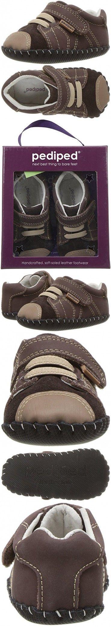 Pediped Baby Originals Jake Crib Shoe, Chocolate, 12-18 Months EU Infant (5-5.5 US)