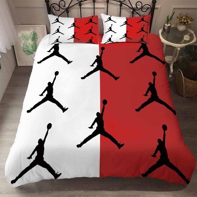 White Red Jordan Bedding Set Duvet Bedding Sets Bedding Sets Duvet Cover Sets