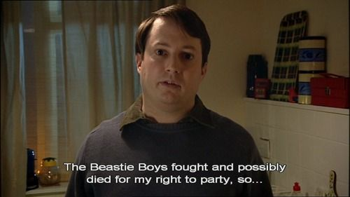 Great quote from the awesome series 'Peep Show'