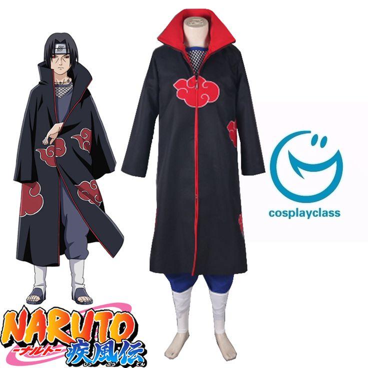 Naruto Shippuden Uchiha Itachi Akatsuki Uniform Anime Cosplay Costume #naruto #itachi #cosplay