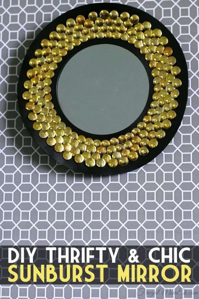 DIY Thrifty & Chic Sunburst Mirror - Frugal Mom Eh!Crafts Ideas, Mom Eh, Frugal Mom, Diy Crafts, 15 Minute, Sunburst Mirrors, Diy Thrifty, Diy Projects, Chic Sunburst