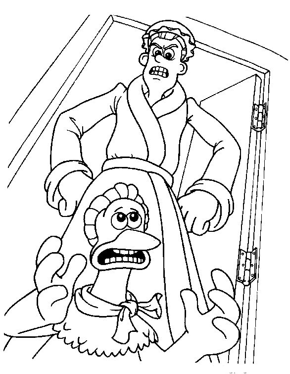 Chicken Run Scolded Coloring Pages For Kids Printable