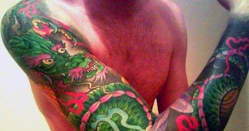 Gambar Tato Naga Warna