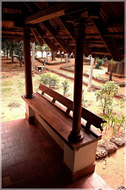 Seating as a part of structure by akila venkat, via #Flickr #architecture #pinterest @heritage #culture #dakshinachitra