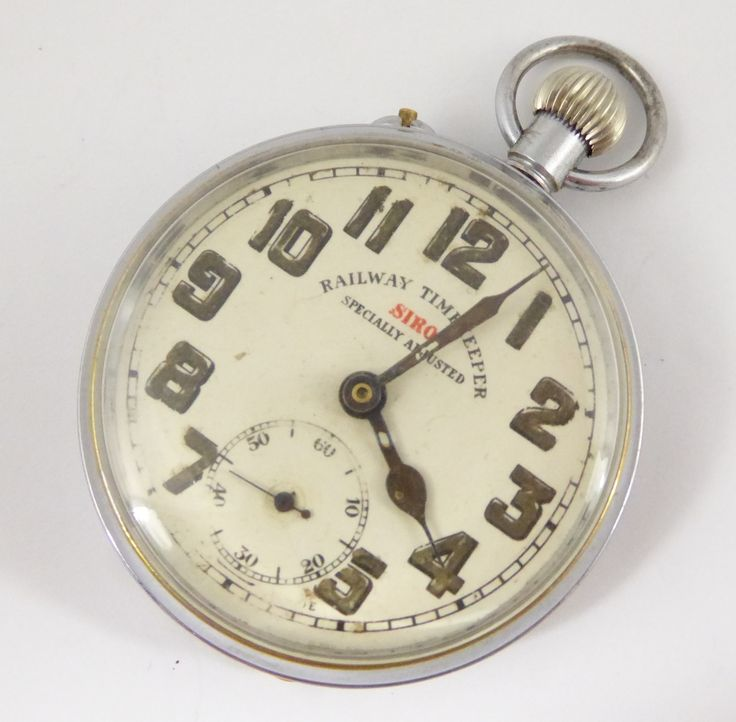 Antique Siro Railway Timekeeper Brass Cased Mechanical Pocket Watch (Needs Work) - The Collectors Bag