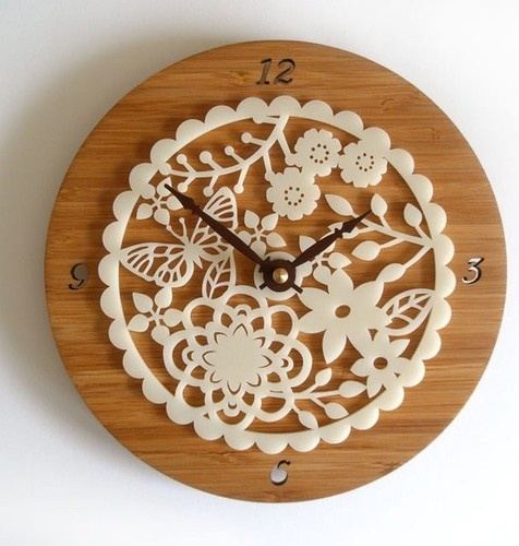 Decoylab Kirie 02 Bamboo Clock modern kids decor