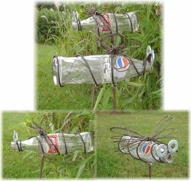 Hanging+Recycled+Garden+Art+Pepsi+or+Coke+Pop+Bottle+by+Junkfx,+$30.00