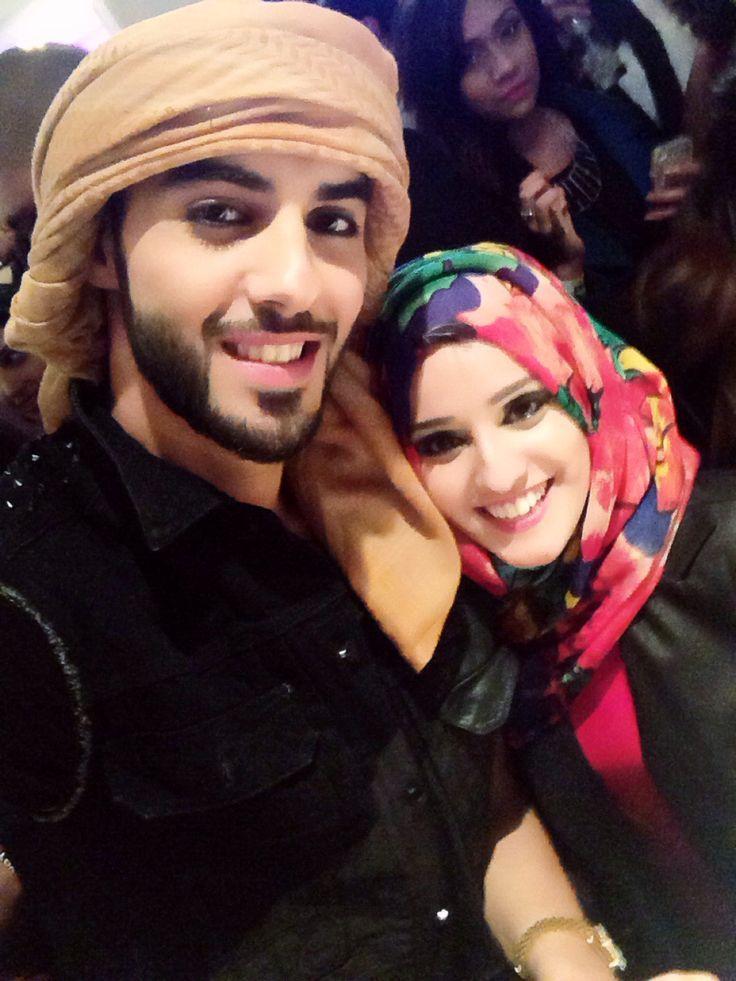 Arab couple. Gosh this girl looks like me. :) hh