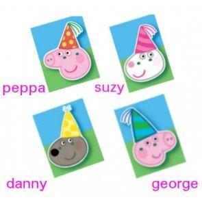Peppa Pig Face Masks (8pc)