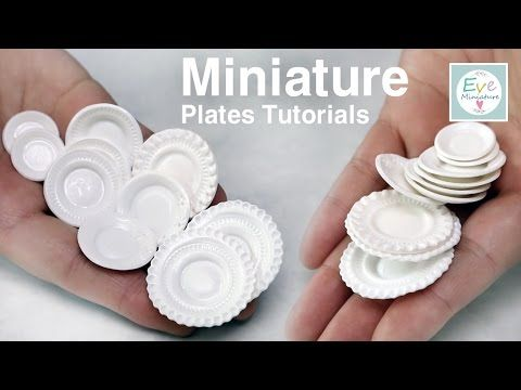 미니어쳐 그릇 만들기 (Up) Miniature plates tutorials - YouTube with english subtitles very easy to make