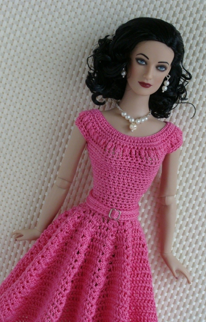 """Crochet dress for 16"""" Barbie check out the prices these are going for!"""