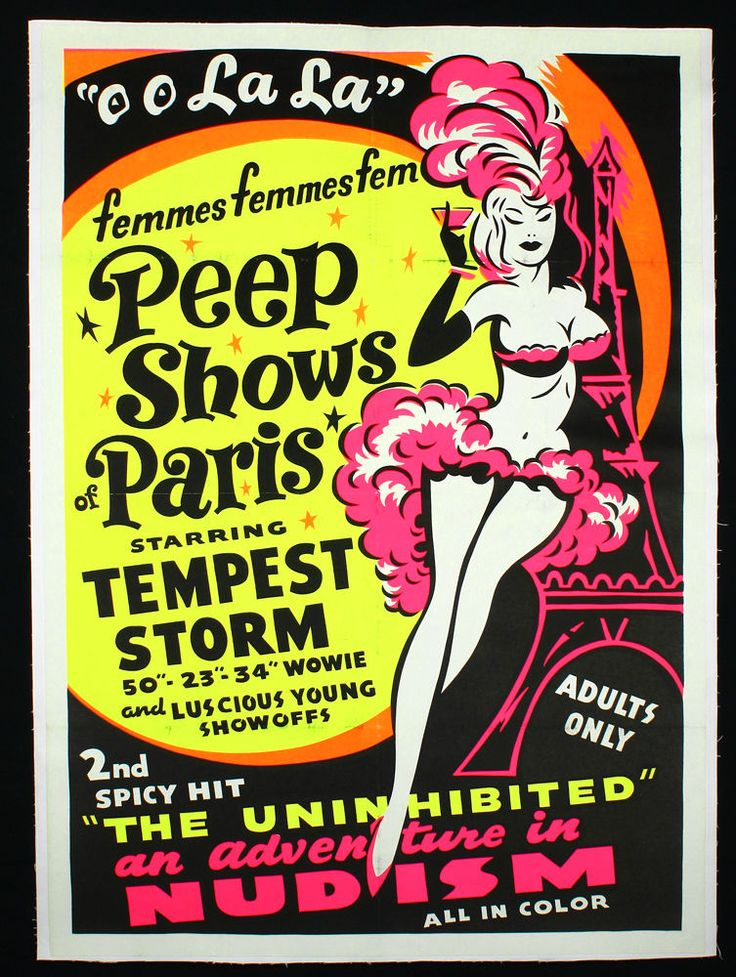 Buxom Burlesque Beauty Tempest Storm French Peep Show 1954 Documentary Poster | eBay