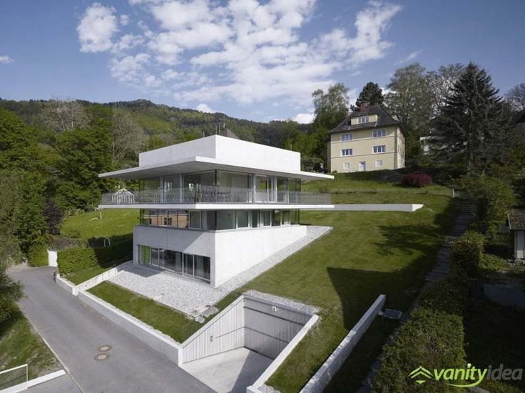 Idyllic Austrian Landscape Presents a House by the Lake in Bregenz, Austria