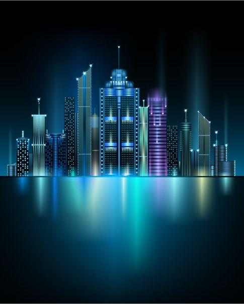gran ciudad - vectores, imagen vectorial.
