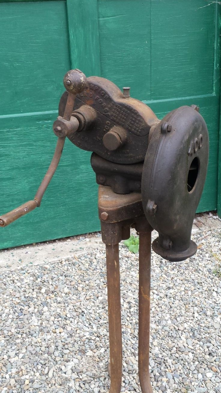 champion forge blower. rare antique blacksmith forge cast iron blower champion 400 with stand   ebay l