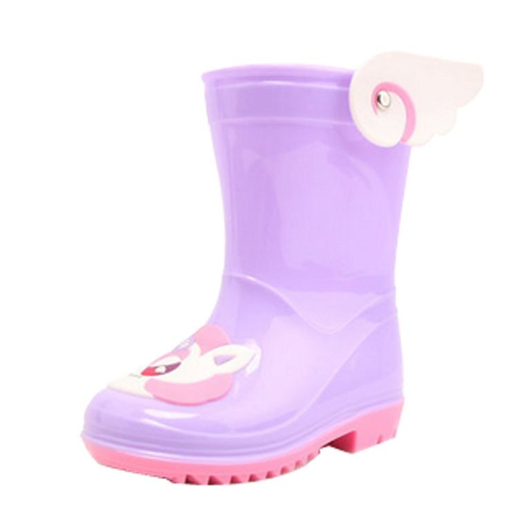 Cute Starry Kids' Rain Boots Purple Unicorn Children Rainy Days Shoes 14.5CM. Rubber anti-slip rain boot. Color: purple. Size: 14.5cm. Please choose the best fitness size for your baby according to its feet's length. We offer the Highest Quality and Lowest prices Guranteed!!.