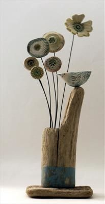 Perched Little Bird - Shirley Vauvelle
