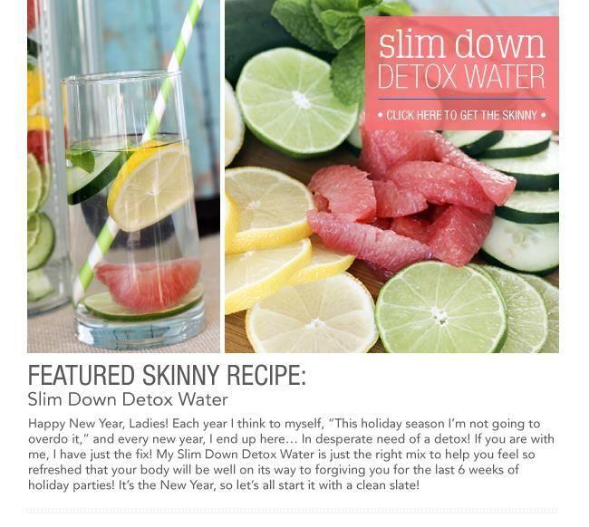 Slim Down Detox Water -- Grapefruit, Mint, Lemon, Lime