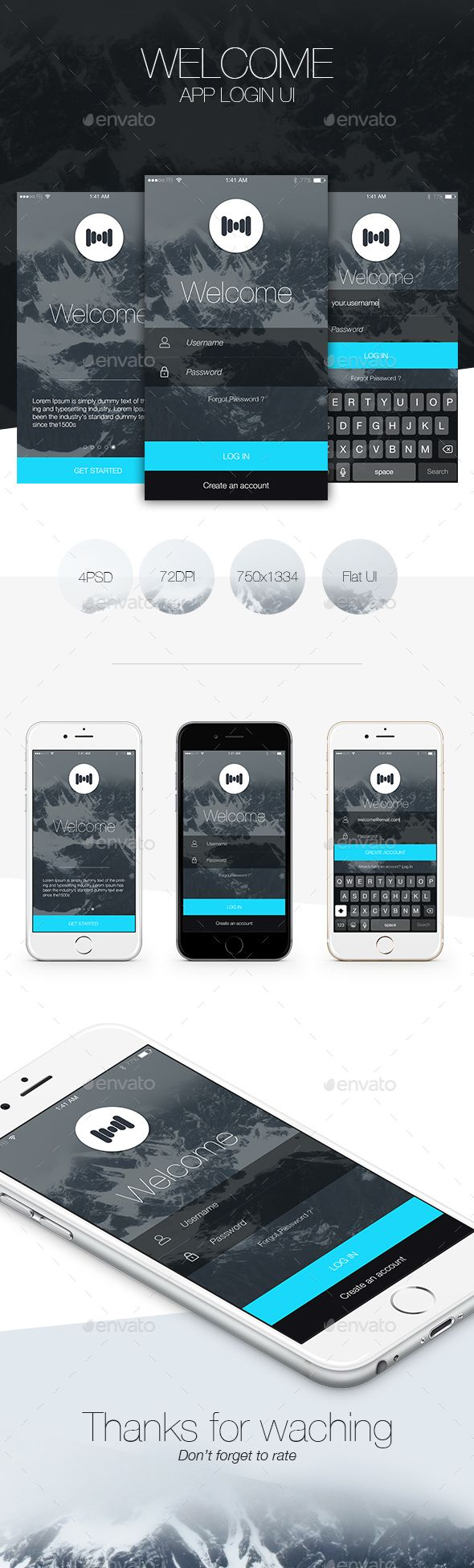 Flat App Login - V02 (User Interfaces)