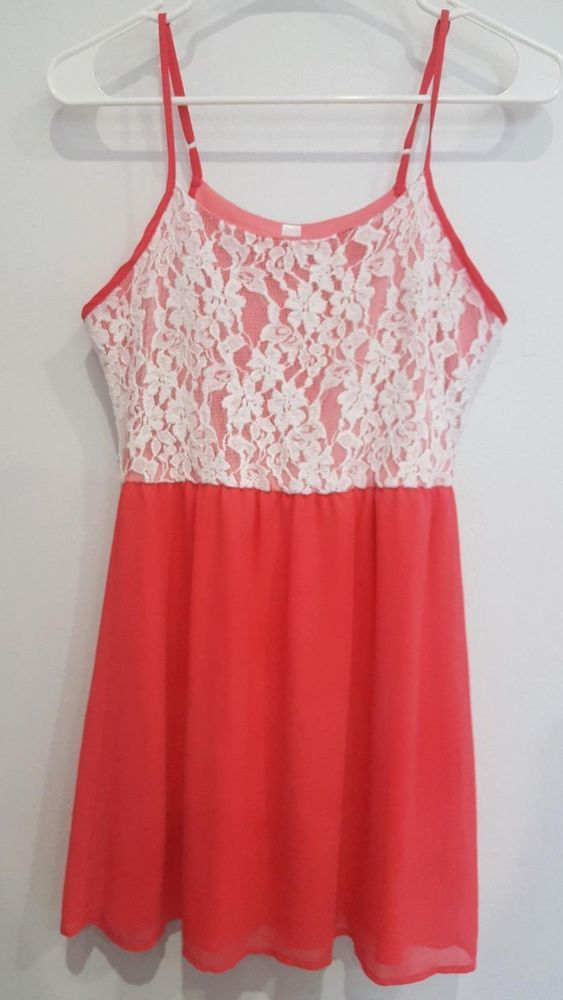 Beautiful pink and white lace maternity dress in size small continue wearing after your baby bump. Ascaris is like new with no rips tears or stains of any kind. And comes from a pet free and smoke-free home.   eBay!