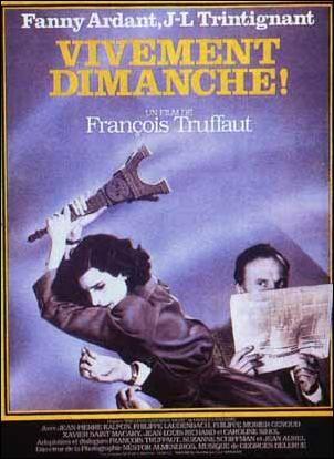 """415. """"Vivement dimanche ! de François Truffaut avec Fanny Ardant, Jean-Louis Trintignant, Jean-Pierre Kalfon,1982 ."""