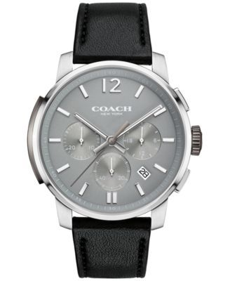 17 best images about coach shops cars and squares coach men s bleecker chrono black leather strap watch 42mm 14602013 macy s exclusive