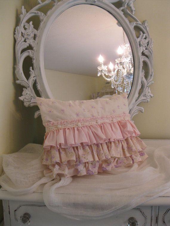 Shabby Cottage chic triple ruffle all Cotton by BrambleWoodANDivy