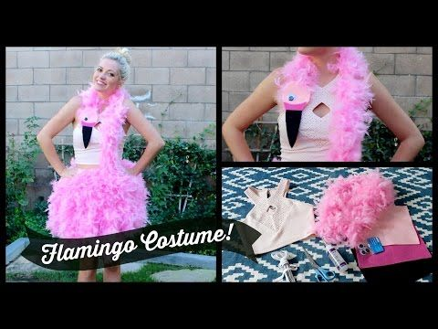 ▶ DIY Flamingo Costume! Style By Dani - YouTube