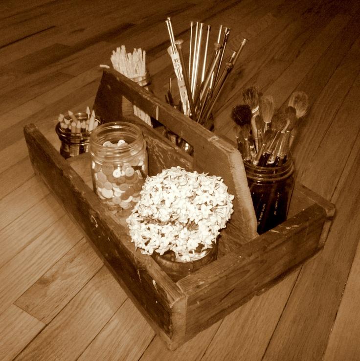 Mason Jar Craft Box