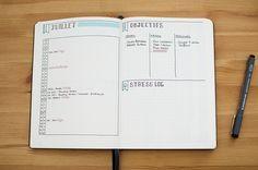 bullet journal présentation simple et clair. Idée du mini masking tape /mois…