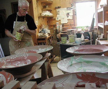 John Glick & several different potters as well writing about their work/process