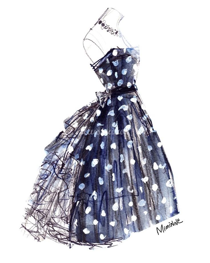 High Fashion Dress Sketches