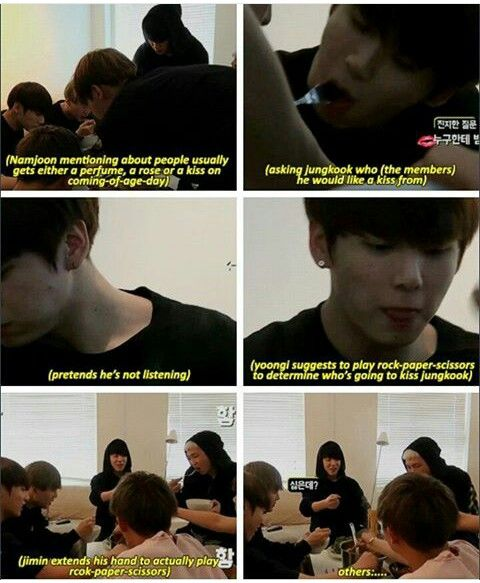 Jimin are you actually serious <--- HHAHAH Minnie's crush on Jungkook is the absolute most cutest and tragic and hilarious thing I've ever seen XD too bad I ship Vkook. You're just destined to struggle Jiminie.