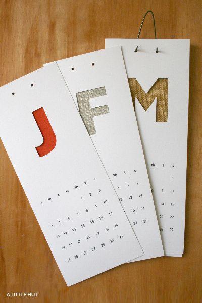 Handmade Calendar Designs : Best handmade calendars images on pinterest
