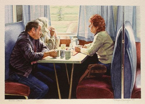 Ralph Goings  Booth Group by Jonathan Novak Contemporary Art, via FlickrBooths Group, Art Hiperealim, Art People, Artists Art, Dinning Outart, Contemporary Art, Dinning Out Art, Art Ralph, Wikiart Org