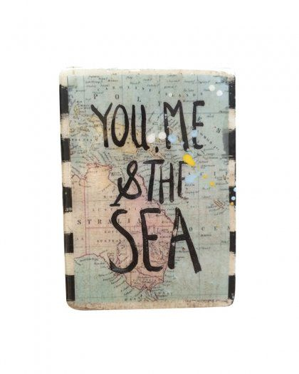 Ahoy Trader Mini Plaque - You Me and the Sea