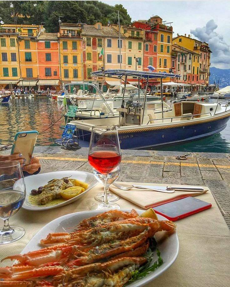 Lunch by the sea In Portofino