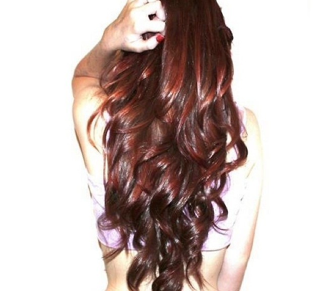 red brown curly long hair! might just do this!