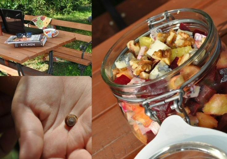 Salad with walnuts, beets and gorgonzola