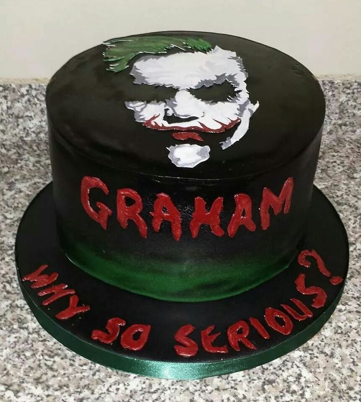 Joker Cake why so serious? Www.cacalicious.com