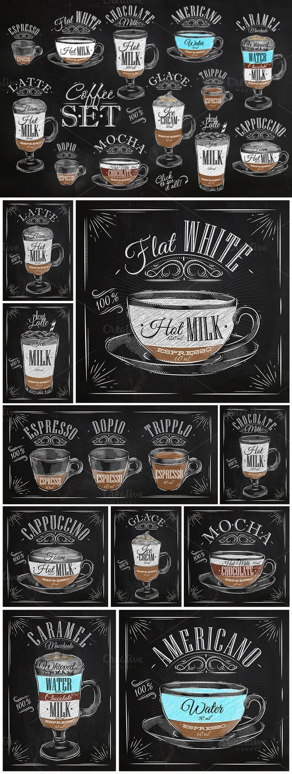 So want!!! Set Coffee by Anna on Creative Market