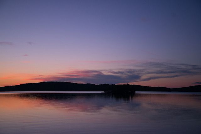 The benefit of our location at the arctic circle: summer sunsets at midnight.
