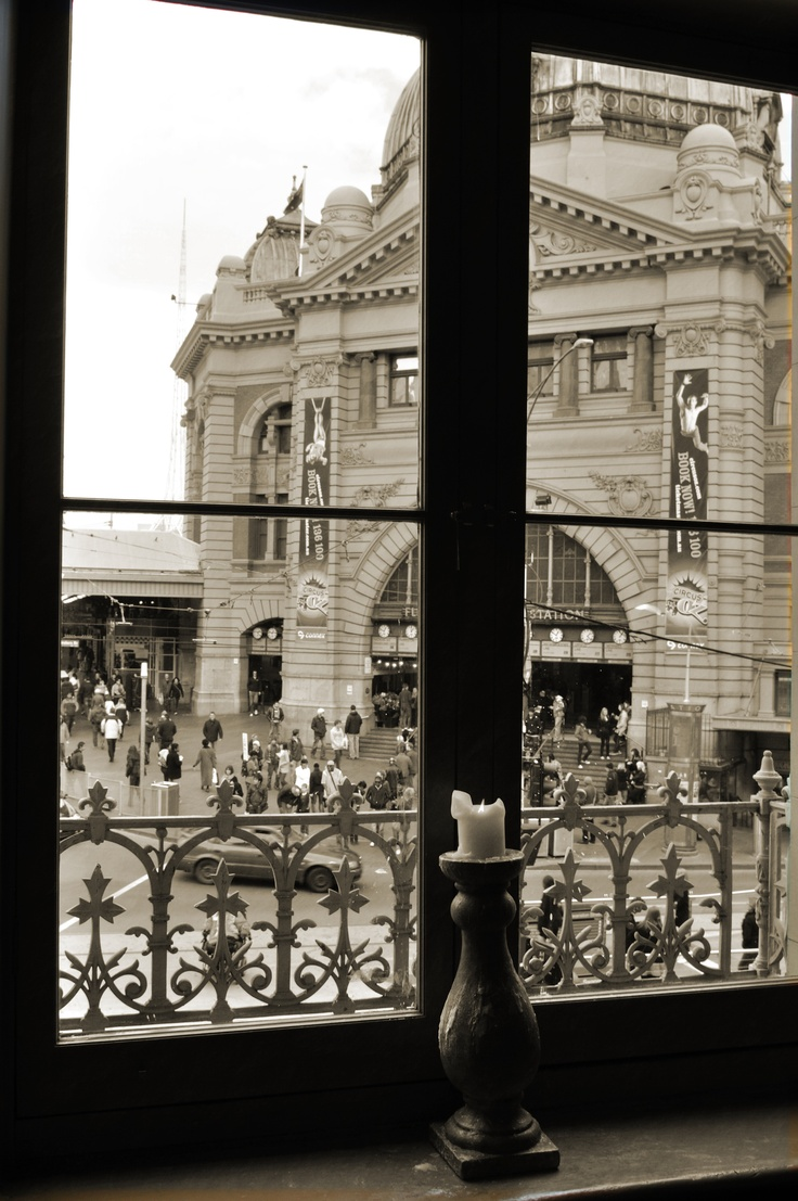 Flinders Station in Melbourne -Victoria, was the first railway station in an Australian city, the terminus for the first use of steam rail in Australia and the world's busiest passenger station in the late 1920s.