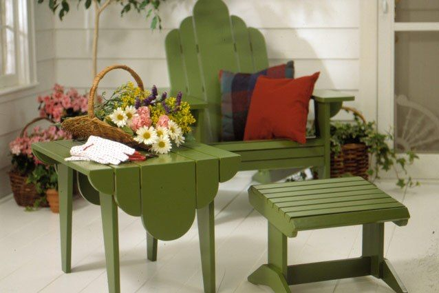 Clean and repair furniture for your deck, porch or patio. use outdoor enamelspray paint to touch up any chips.