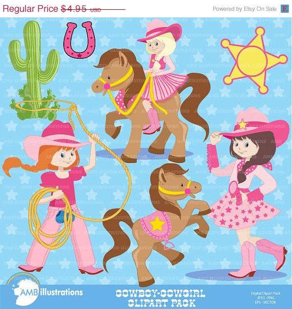 80% OFF Cowboy clipart, Cowboy clip art, cowgirl clip art, cowgirl clipart -commercial use, rodeo clipart,horse clipart, horse.  AMB-159